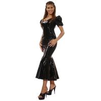 ledapol 1052 langes kleid - vinyl kleid - fetish lackkleid