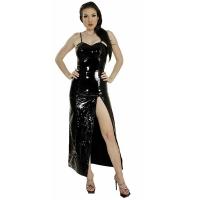 ledapol 1077 langes kleid - vinyl kleid - fetish lackkleid