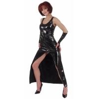 ledapol 1117 fetish lack kleid - vinyl langer kleid