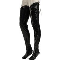 ledapol 1341 vinyl overknees stocking - patent bed stocking fetish