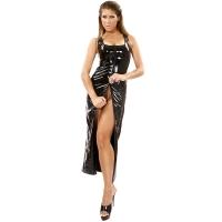 ledapol 1351 fetish lack kleid - vinyl langer kleid