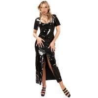 ledapol 1365 fetish lack kleid - vinyl langer kleid