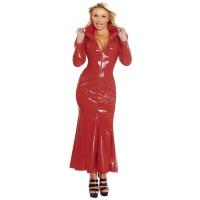 ledapol 1389 langes kleid - vinyl kleid - fetish lackkleid