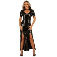 ledapol 1446 langes kleid - vinyl kleid - fetish lackkleid