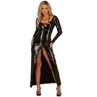 ledapol 1449 langes kleid - vinyl kleid - fetish lackkleid