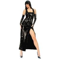 ledapol 1455 langes kleid - vinyl kleid - fetish lackkleid