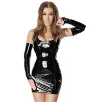 ledapol 1460 lack minikleid - kurzes kleid fetish lackkleid