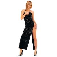 ledapol 1473 langes kleid - vinyl kleid - fetish lackkleid