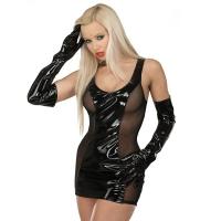 ledapol 1549 lack minikleid - kurzes vinyl kleid - fetish lackkleid