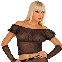 ledapol 1586 damen netz bluse - sexy netz bluse