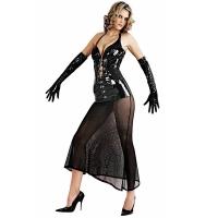 ledapol 1622 langes kleid - vinyl kleid - fetish lackkleid