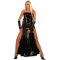ledapol 1731 langes kleid - vinyl kleid - fetish lackkleid