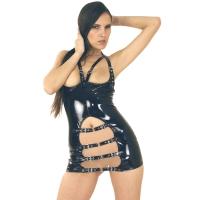 ledapol 1765 lack minikleid - kurzes vinyl kleid - fetish lackkleid