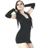 ledapol 3023 stretch kleid - stoff minikleid - sexy kleid