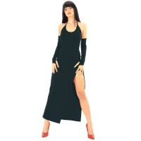 ledapol 3068 langes kleid - stoff kleid - fetish stretch kleid