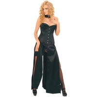 ledapol 3069 langes kleid - satin kleid - fetish korsettkleid