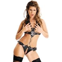 ledapol 473 leder riemenbody - harness body damen