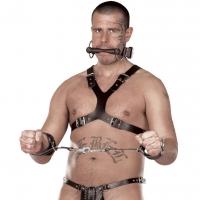 ledapol 5048 sm herren brustharness - gay leder harness