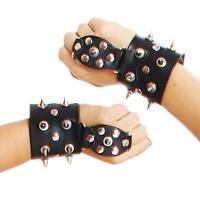 ledapol 5205 ein paar leder handfesseln mit nieten