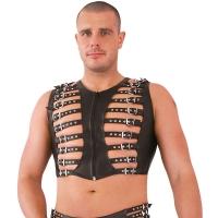 ledapol 5267 leather vest - gay vest