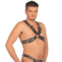 ledapol 5516 sm herren brustharness - gay leder harness
