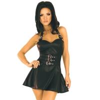 ledapol 5576 leder minikleid - kurzer kleid