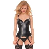 ledapol 6049 kunstleder body - damen bodysuit