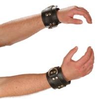 ledapol 8023 ein paar leder handfesseln mit nieten