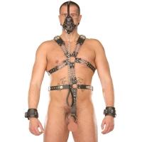 ledapol 877 sm herren harness body - gay leder riemenbody