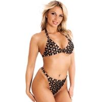ledapol 986 + 987 leder büstenhalter + slip - 2 teilig als set - sexy lingerie