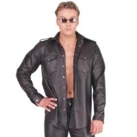 ledapol 990 leather shirt - gay shirt