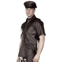 ledapol 991 leather shirt - gay shirt