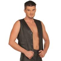 ledapol 993 leather vest - gay vest